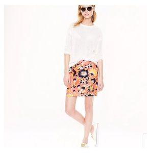 J Crew | Hibiscus Floral Postage Stamp Mini Skirt